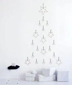 Bild: Pinterest // Backförmchen oder Drahtelemente als Baum arrangiert