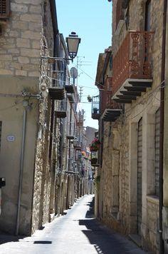 Street in Gangi, Sicily