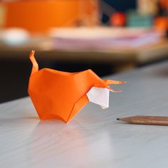 Origami bull attempt! Tutorial by Alexander Kurth is on YouTube.