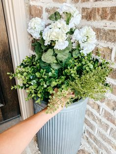 Tutorial on how to arrange and use artificial flowers and plants in outdoor planters. #ABlissfulNest #gardening #outdoorplanters Faux Outdoor Plants, Plants For Planters, Fake Potted Plants, Outdoor Flowers, Outdoor Planters, Faux Plants, Artificial Flowers Outdoors, Artificial Plants, Fake Flowers