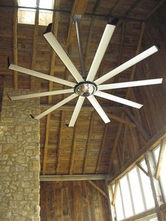 Element Fan by Big Ass Fans Living Room Ceiling Fan, Ceiling Fans, Garage Ceiling Fan, Industrial Fan, Industrial Ceiling Fan, Modern Mansion, Forest House, Cool Pools, Interior Exterior