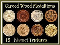 Second Life Marketplace - *Kismet* Carved Wood Medallions/Plates Textures (18)