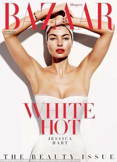 Harper's Bazaar Australia June / July 2014 Cover Model is Jessica Hart  #jessicahart #harpersbazaar