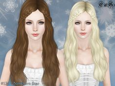 This hair style is created Cazy. It's the Northern Star Hair.  It looks great