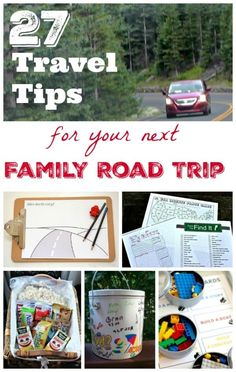 Get organized for you next road trip with these awesome travel hacks and tips for family car trips!
