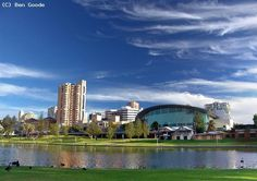 Vue de la ville d'Adelaïde, située sur la côte sud de l'Australie