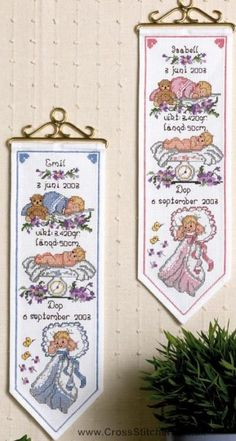 Boy Wall Hanging Birth Sampler Cross Stitch Kit - Idéna Collection by Anchor