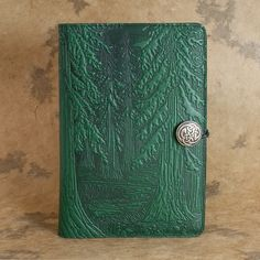 Forest Moleskine Leather Journal Covers with Pewter Clasp by Oberon design.