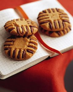 Chocolate-Piped Peanut Butter Cookies - Martha Stewart Recipes