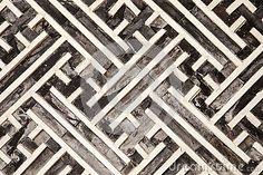 Korean Geometric Pattern In Wood by Matthew Ragen, via Dreamstime