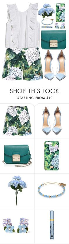 """""""Hydrangeas"""" by virginia-laurie ❤ liked on Polyvore featuring Dolce&Gabbana, Gianvito Rossi, Furla, Estée Lauder and Madewell"""