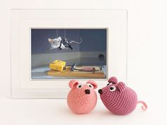 Amigurumi Mouse - FREE Crochet Pattern / Tutorial ★•☆•Teresa Restegui http://www.pinterest.com/teretegui/•☆•★