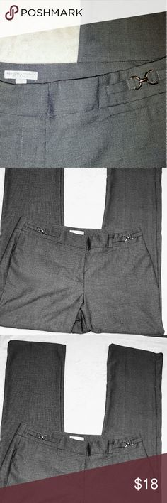 "Like New! New York And Company Gray Pants Like New! New York And Company Gray Pants. 32.5"" inseam, size 12. New York & Company Pants Straight Leg"