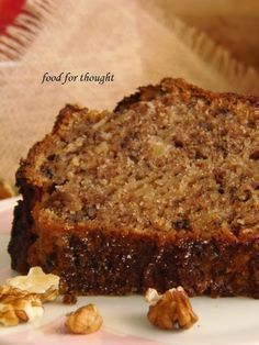 Food for thought: Κέικ Μήλου Greek Sweets, Greek Desserts, Greek Recipes, Sweets Recipes, Fruit Recipes, Cake Recipes, Cooking Recipes, Greek Cake, Chocolate Fudge Frosting