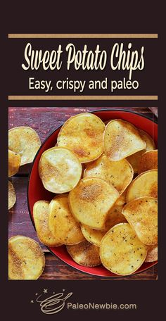 ... white-fleshed sweet potato chips! They're light, crunchy and so good