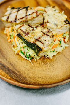 Grilled Opah and Papaya Salad with Fresh Basil Oil | Rue