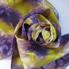 violet and chartreuse scarf | ... Painted Ladies Scarves Dark Purple Violet Chartreuse Olive Green Tan