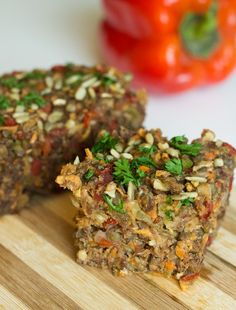 Nut-and-Seed Loaf [Vegan, Gluten-Free] - One Green PlanetOne Green Planet Vegan Gluten Free, Vegan Vegetarian, Vegetarian Recipes, Cooking Recipes, Healthy Recipes, Vegan Food, Vegan Meals, Vegetarian Dinners, Vegan Dishes