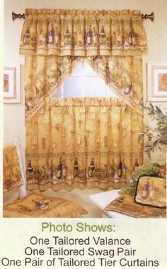 Kitchen Curtains Valances Napa Valley Valance By The Curtain Shop Amazon