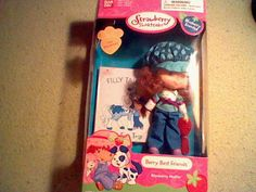 "Strawberry Shortcake Berry Best Friends 6"" Blueberry Muffin Doll with storybook #BanDai #DollswithClothingAccessories"