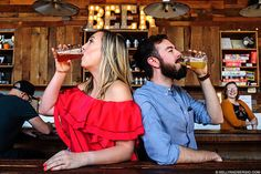 Brewery/beer engagement photo shoot. Pueblo Vida Brewery in Tucson, Arizona. Kelly and Sergio photography. Ivy Morris and Robert Madril. #ivysbeenrobbed
