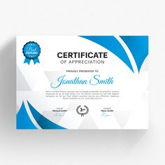 Modern certificate template with blue details Premium Psd Certificate Layout, Certificate Background, Free Certificates, Certificate Design Template, Pokemon Card Template, Certificate Of Appreciation, Newsletter Design, Indesign Templates, Funny Hacks