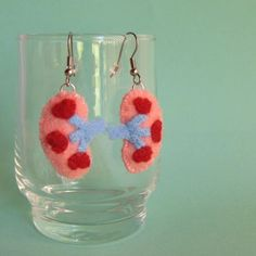 Kidney Earrings - i have a failing kidney....these make me laugh!
