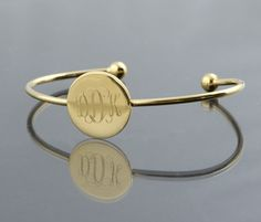 14k gold plated thin bangle $39   Initial Outfitters
