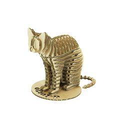 The paper craft cat!    http://d-torsoshop.com/en/miniatureanimal/animals/cat-110/cat110akraft-en.html