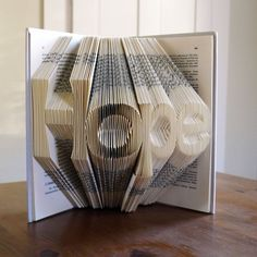 Christmas Decor - Holiday - Hope - Folded Book Art - Inspirational - Book Sculpture - Unique Gift -. $85.00, via Etsy.