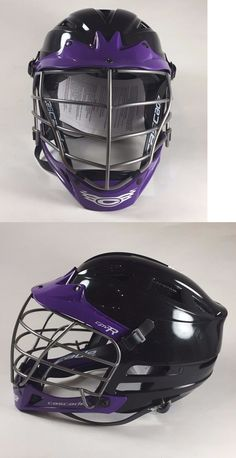 Protective Gear 62164: Cascade Lacrosse Cpv R Lacrosse Helmet - Black And Purple With Chrome Mask -> BUY IT NOW ONLY: $100.0 on eBay!