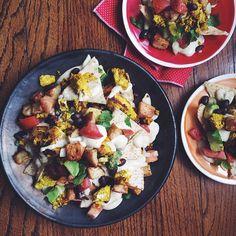 Vegan Breakfast Nachos, also good for lunch or dinner.