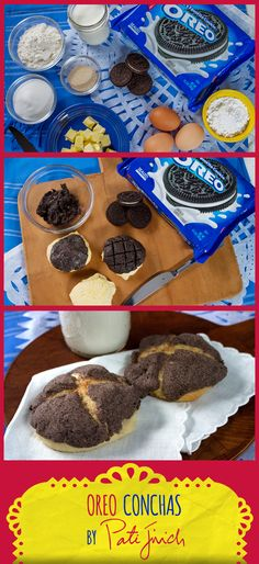 Serve this Mexican pan dulce with OREO cookie topping at your next merienda. Your guests will love these light and airy sweet breads that will make everyone think of home and familia. Easy To Make Snacks, Easy Meals, Mexican Food Recipes, Dessert Recipes, Desserts, Easy Recipes, Cooking Recipes, Vendor Booth, Roll Cookies
