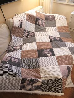 Photoquilt Memories, Quilts, Blanket, Bed, Home, Scrappy Quilts, Memoirs, Souvenirs, Stream Bed