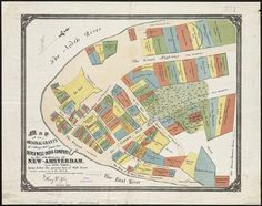 Map of grants from the Dutch West India Company - New Amsterdam