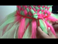 How to make the woven tutu top - YouTube