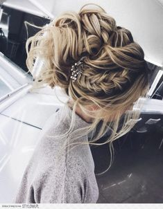 fryzura, upięcie, warkocz, ślub, wesele