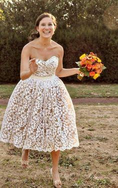 Short Cotton Wedding Dress   Wedding Gallery