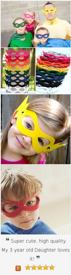 100 Hero Masks-Super hero party favors - 9 colors-Bulk Super Hero Mask Party…