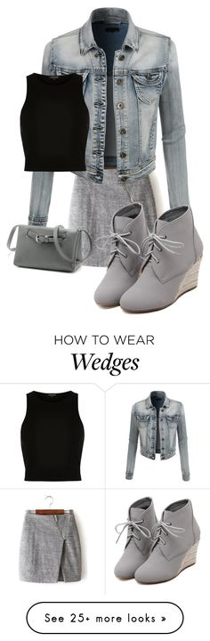 """""""Untitled #313"""" by kotnourka on Polyvore featuring LE3NO, River Island, WithChic, women's clothing, women, female, woman, misses and juniors"""