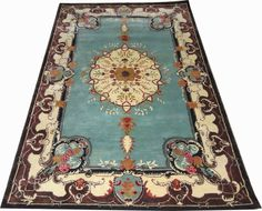 Indian Hand Tufted Oriental Designer Semi Worsted Wool Carpet Rug Alfombras Hali #HandTufted