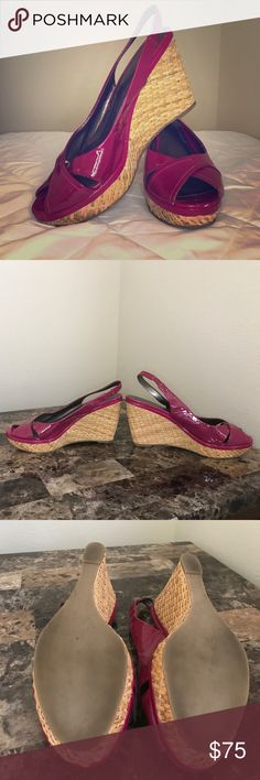 Pink summer Nordstrom Boutique Sandal Wedges 10M Adorable sundress worthy basket woven pink wedges from Nordstrom Boutique. leather upper and 4 inch comfortable heel. Nordstrom Shoes Wedges