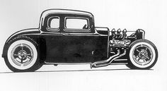 Old School Hot Rod Art | Recent Photos The Commons Getty Collection Galleries World Map App ...