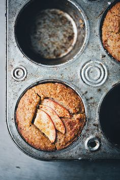 This healthy Apple Almond Buckwheat muffin recipe is perfect for breakfast or a quick morning snack. Gluten free and can be made vegan.