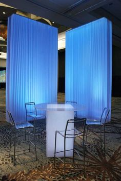 like the uplighting on the white draping