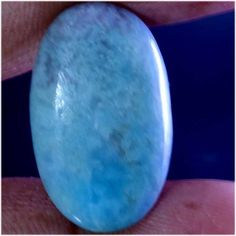 23.25Cts. Imposing DOMINICAN REPUBLIC SKY BLUE LARIMAR OVAL CABOCHON GEMSTONE #Handmade