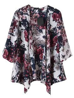 Vintage Floral Kimono Coat | Choies