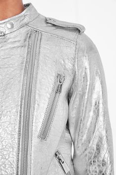 BOWIE LEATHER JACKET - SILVER