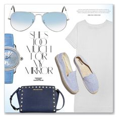 """Blue Details"" by jomashop ❤ liked on Polyvore featuring Audemars Piguet, Olive + Oak, Ray-Ban, Soludos, Rika and Blue"