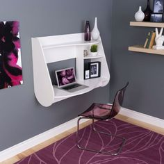 With its sleek look and innovative space-saving design, this White Modern…